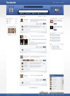 Facebook - Redesign by Czarny-Design
