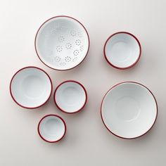 I think I'm going to need to add these to our Airstream kitchen. Enamelware Prep Set