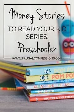 "Ever wonder how to teach your kid about money? Here's a list of books you can read to your preschooler to learn about money. Plus did you know the President has an advisory council on what your child should know by what age to be ""Financially Smart""? Even for preschoolers! 