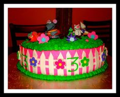 Treehouse cake, toopy binoo max ruby and bubble guppys