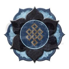 Endless knot in lotus.