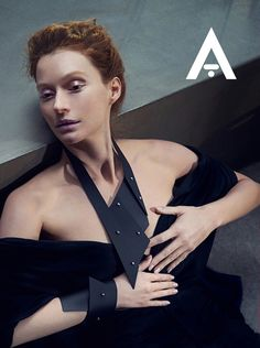 Aumorfia   A_series   'polygons_long' leather necklace & cuff