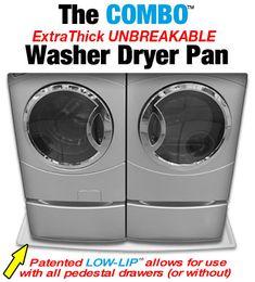 washing machine pan for front loader