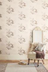 Mauve Floral Poetry wallpaper, Next (£18)