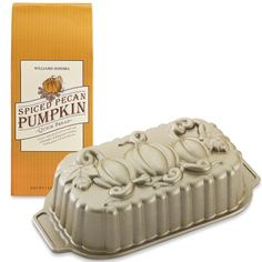 Pumpkin Loaf Pan with Spiced Pecan Pumpkin Quick Bread Mix #WilliamsSonoma