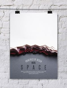 SPACE - Turkish designer, Efil Türk has given us a beautiful collection of hand made posters detailing the elements of design. Using a combination of techniques such as paper cutting and photo manipulation, she's provided us with a delightful series that isn't afraid to both enchant and educate.