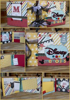Disney Mini Album Scrapbook - Premade with 28 pages All ready for pictures! Lots of little touches make this book a true keepsake for all those magical photos!