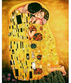 Sarutul- Gustav Klimt (reproducere)
