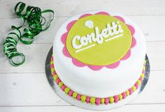 Confetti oy cake Confetti, Birthday Cake, Cakes, Desserts, Food, Tailgate Desserts, Deserts, Cake Makers, Birthday Cakes