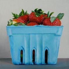 """Strawberries"" - Original Fine Art for Sale - © Oriana Kacicek"