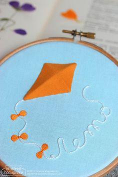 adorable embroidered kite / Goodbye Summer! - Вечерние посиделки