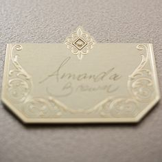 Art Deco Laser Embossed Place Cards - Confetti.co.uk