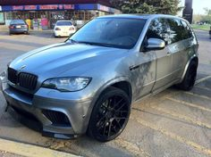 "2008 x5 bmw with 22"" custom wheels 