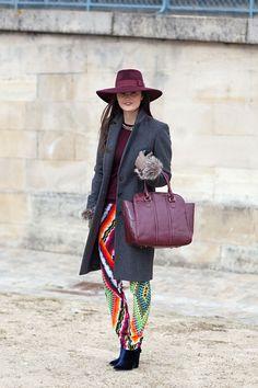 Peony Lim | Paris Fashion Week Fall 2013 | Harper's Bazaar Street Style