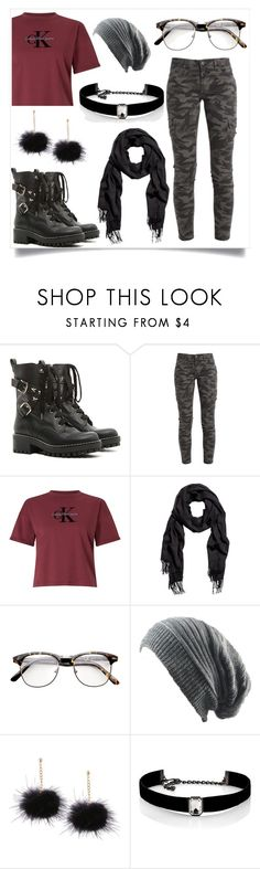 """""""Grunge Style"""" by sashafiercekitty on Polyvore featuring RED Valentino, Calvin Klein and Kenneth Jay Lane"""