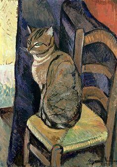 Suzanne Valadon (1865-1938) - Étude d'un chat, 1918