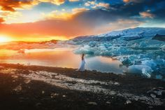"Fire & Ice - Here's an image from the glacial lagoon in Iceland!! It is a truly beautiful location! Victoria And I spent a lot of time there just appreciating it's magic!!! Look for more in the coming days! :) Learn my editing techniques!   LAST DAY!!! Enjoy my fine art editing tutorial for 50% off! Enter code: ""flashsale"" to redeem your discount!! :)  www.tjdrysdale.com/finearttutorial  In this 1hr tutorial, I'll discuss some of the tips and tricks I've discovered in Photoshop to give…"
