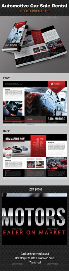 Car for sale template - Made for two car listings - Red and black - car for sale template word
