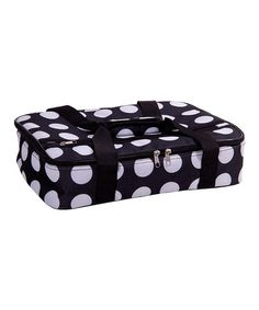 Take a look at this Black & White Dot Casserole Carrier by Home Essentials and Beyond on #zulily today!$17.99, regular 30.00 Available in many colors.