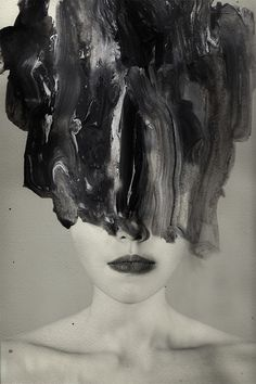 .// PHOTOGRAPHY AND PAINT PORTRAITS - Philippine artist Janus Miralles makes very beautiful abstract portraits by mixing photography and paint as a way to create. Often in black and white, faces are erased with a certain darkness, as if they were burnt. Pinned by Ellen Rus.