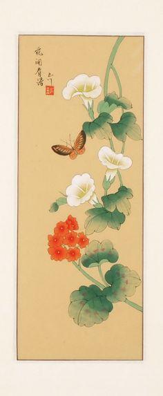 Chinese folowers paintings - Morning Glory