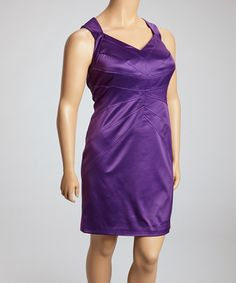 Take a look at this Crown Jewel Panel Sheath Dress - Women & Plus by Jessica Simpson Collection on #zulily today!