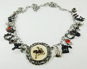 Alice in Wonderland Charm Necklace by Curious Jewelry