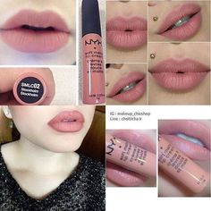 NYX Stockholm lip color is beautiful!- NYX Stockholm lip kleur is prachtig! … Ogen Lippen Nagels Make-up Huid C NYX Stockholm lip color is gorgeous! Eyes Lips Nails Makeup Skin C - Nyx Stockholm, Makeup Dupes, Skin Makeup, Makeup Products, Makeup Geek, Nyx Dupes, Dead Makeup, Witch Makeup, Makeup Eyebrows