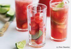 Wassermelone-Erdbeer-Punsch
