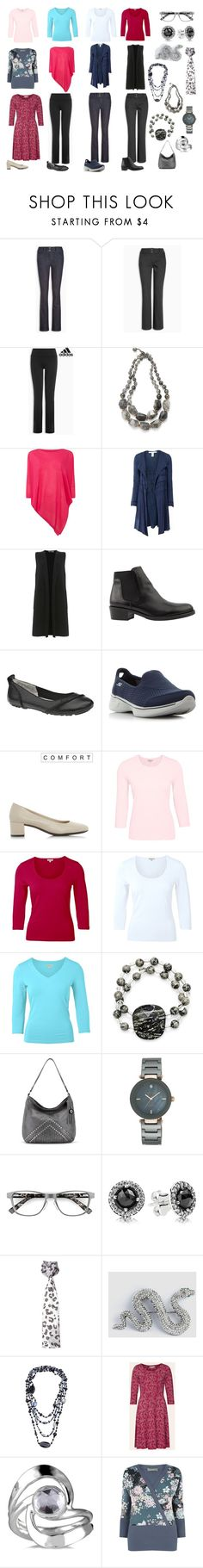 """""""W Q july 17"""" by missiatti ❤ liked on Polyvore featuring adidas, Lola Rose, Phase Eight, Max Studio, Mint Velvet, Hush Puppies, Skechers and Anne Klein"""
