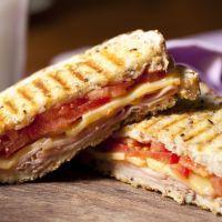 Gooey Ham and Cheese Panini
