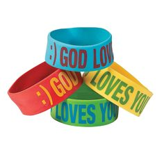 "Smile Face ""God Loves You"" Big Bands - OrientalTrading.com"