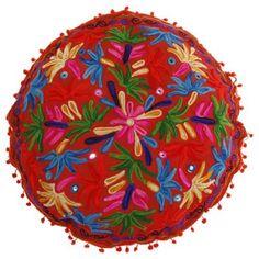 Cojín pouf rojo 60x60 cm