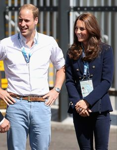 Catherine, Duchess of Cambridge and Prince William, Duke of Cambridge arrive at the SECC Hydro for the Gymnastics during the 20th Commonwealth Games on July 28, 2014 in Glasgow, Scotland.