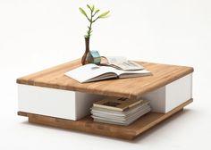 Couchtisch Holz Betty Wohnzimmertisch Asteiche mit Schublade 8835