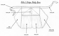 Iinstructions for making the vintage handkerchief apron