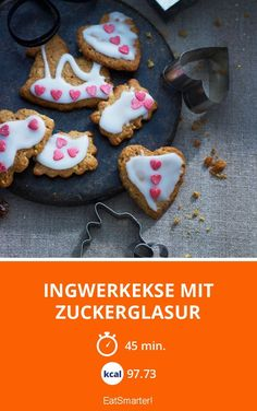 Ingwerkekse mit Zuckerglasur - smarter - Kalorien: 97.73 kcal - Zeit: 45 Min. | eatsmarter.de