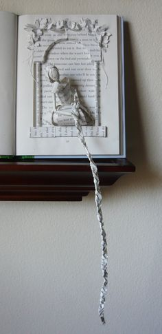 Rapunzel Book Sculpture.