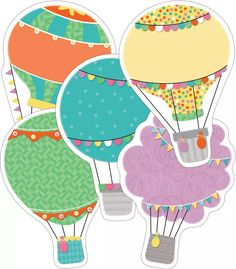 Hot Air Balloons Cut-Outs to go with Soaring to Success bulletin board set.