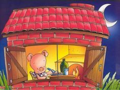 Os três porquinhos   história Piggly Wiggly, Three Little Pigs, Cute Pigs, Stories For Kids, Conte, Storytelling, Fairy Tales, Activities, Anime