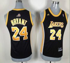Lakers  24 Kobe Bryant Black With Gold NO. Women Fashion Embroidered NBA  Jersey! Only  17.50USD 88979c1f1c