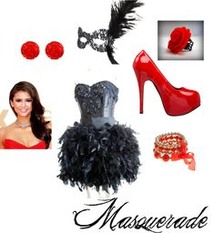 masquerade, created by essmonay on Polyvore