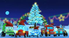 """This is the season to be jolly!!!! Your favorite super hero cars are bringing Christmas to you in their own special way. Singing to the old classic carol """"Jingle Bells"""". #roadrangers #jingelbells #santaclaus #christmas #carsong #kidssongs #babysongs #educational #entertainment #kids #parenting #learning #babies #carvideos"""