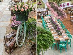 Casamento na praia - Cadeiras verde água - Foto Danilo Máximo Fotografia