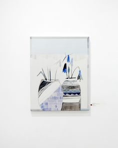 'Imaginary Plants (Blue Bell)', oil on linen, 51 x 41 cm, 2013byEmily Ferretti