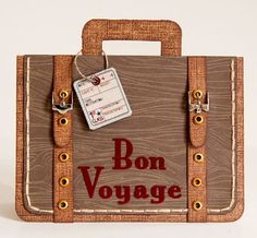 "bon voyage cards | ... our Road Trip showcase with an amazing ""Bon Voyage"" luggage card"