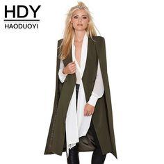 Women's Clothing New Ladies Women Long Sleeve Lapel Cape Poncho Office Jacket Cloak Blazer Long Suit Coat Solid Casual Suit Jacket Workwear