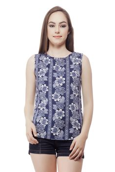 Printed Tank Top From Miss Queen. Shop Online @ Jabong, Voonik, Limeroad,Paytm, Flipkart