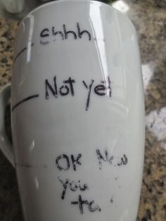 Not a very appealing site, but I found this information helpful. How to write on mugs with Sharpie!