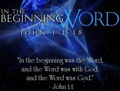 ❥ The Word was with God and the Word was God.